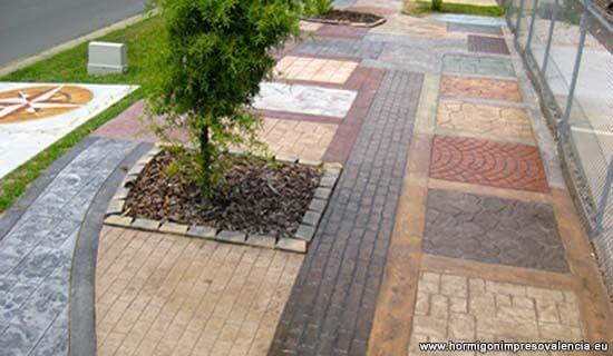 El hormigon impreso imita cualquier otro tipo de pavimento